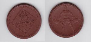 Porzellan Medaille Freiberg 1922 Weltkrieg Ehrenmal 182er IR Meissen (127111)
