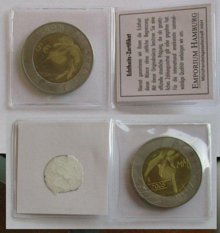 Finnland - 5 Euro Gedenkmünze 2005 - Speerwurf Bi-Metall (131608)