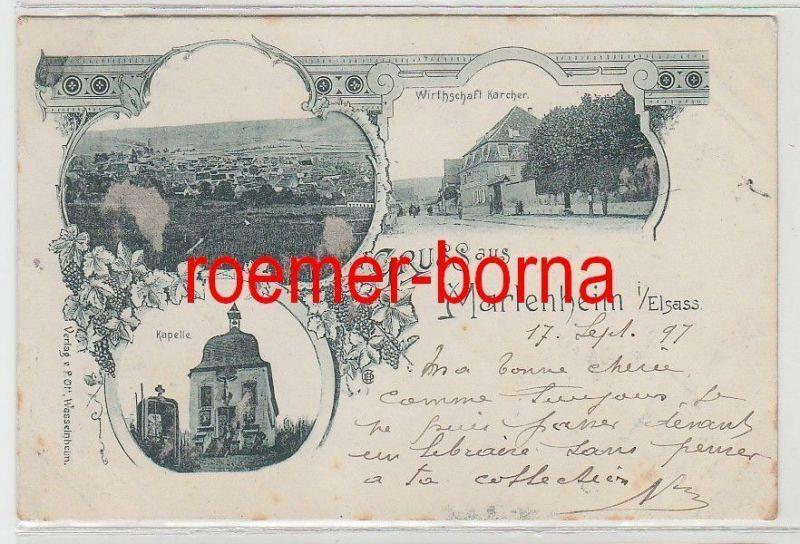 73754 Mehrbild Ak Gruss aus Marlenheim im Elsass Wirthschaft usw. 1897