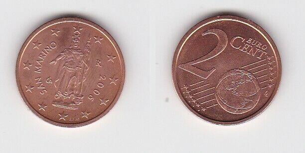 2 Cent Münze San Marino 2006 Freiheitsstatue (131574)