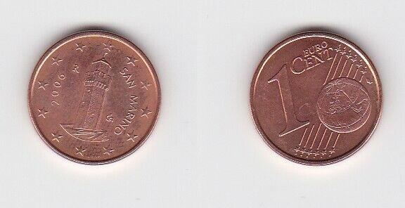 1 Cent Münze San Marino 2006 Festungsturm Montale (131111)