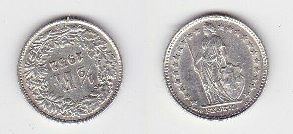 1/2 Franken Silber Münze Schweiz 1952 B (130721)