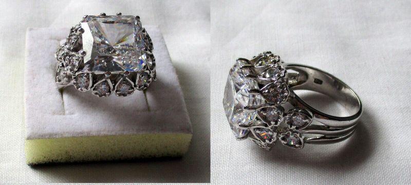 Fantastischer 925er Sterling Silber Damenring mit vielen Steinen (132523)