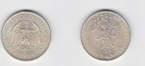 Silber Münze 3 Mark 1000 Jahre Stadt Meißen 1929 E (132715)