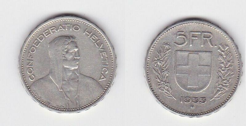 5 Franken Silber Münze Schweiz 1931 B (131486)
