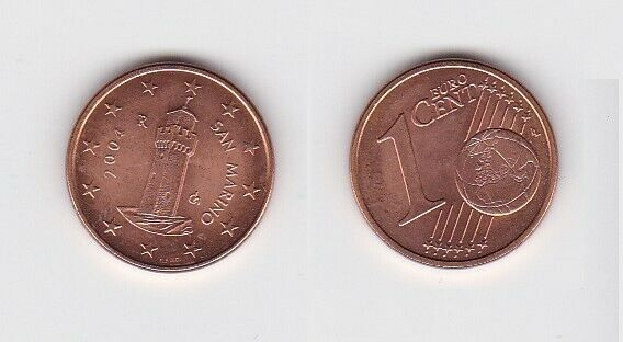 1 Cent Münze San Marino 2004 Festungsturm Montale (131261)