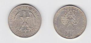 Silber Münze 5 Mark 1000 Jahre Stadt Meißen 1929 E Jäger 339 (132675)