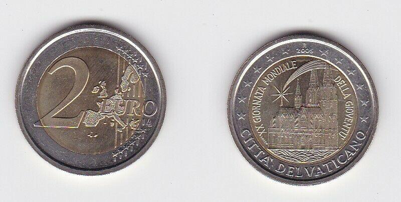 2 Euro Bi-Metall Münze Vatikan 2005 20. Weltjugendtag Köln (118875)