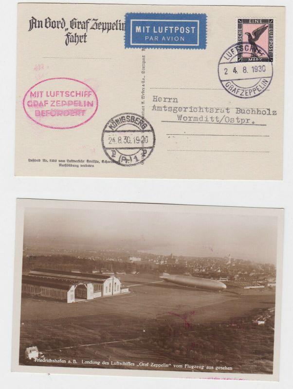 Luftschiff Graf Zeppelin Brief Königsberg Ostpreussen 1930 (124485)