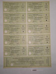 1000 Reichsmark Erneuerungsschein Feist-Belmont'sche Sektkellerei 1947 (129020)