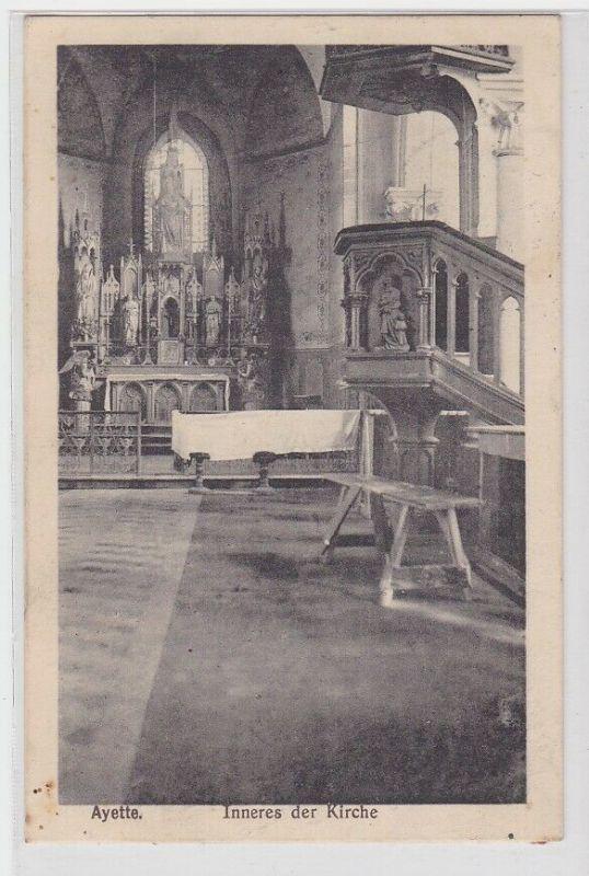 21701 Feldpost Ak Ayette Frankreich Inneres der Kirche 1915