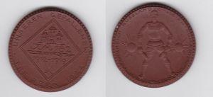 Porzellan Medaille Freiberg 1922 Weltkrieg Ehrenmal 182er IR Meissen (120443)