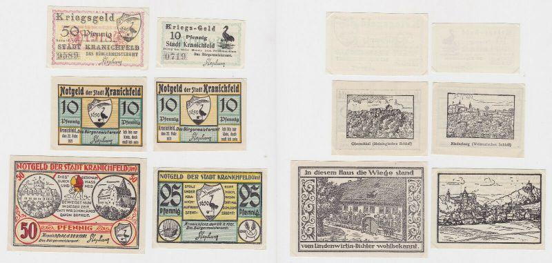 6 Banknoten Notgeld Stadt Kranichfeld 1918-1921 (132917)
