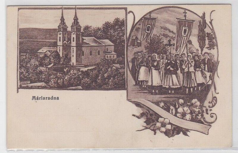 87246 Mehrbild Feldpost Ak Wallfahrtsort Maria Radna Rumänien 1917