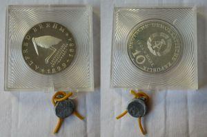DDR Gedenk Münze 10 Mark Alfred Brehm 1984 PP verplombt (132359)