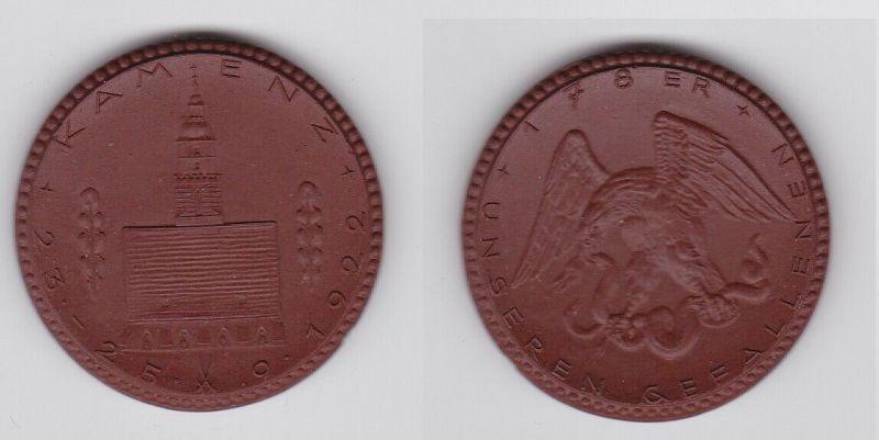 Meissner Porzellanmedaille Kamenz unseren Gefallenen 178er 1922 (125831)