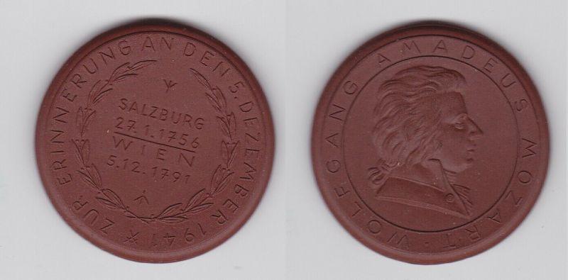 Meissner Porzellanmedaille Wolfgang Amadeus Mozart Salzburg 1941 (123714)
