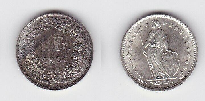 1 Franken Silber Münze Schweiz 1965 B (130576)
