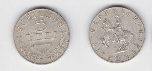 5 Schilling Silber Münze Österreich 1962 (130569)