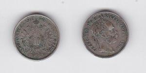 10 Kreuzer Silber Münze Österreich Franz Josef I. 1872 (130567)