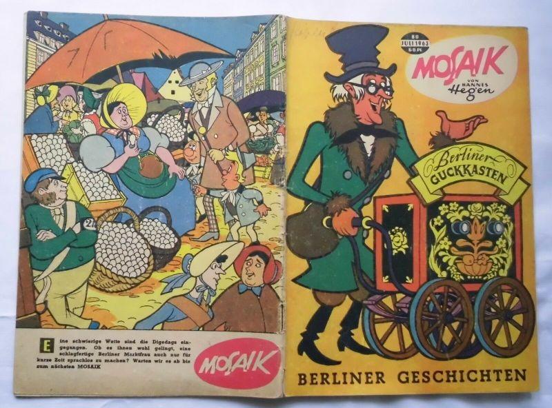 Mosaik von Hannes Hegen Digedag Nummer 80 von 1963 (123148)