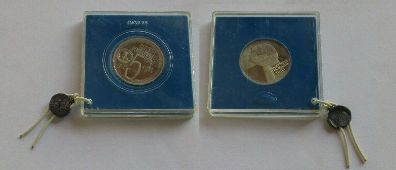 DDR Gedenk Münze 5 Mark Anti Apartheid Jahr 1978 PP verplombt (131965)