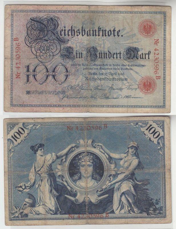 100 Mark Reichsbanknote Deutsches Reich 17.April 1903 (113193)