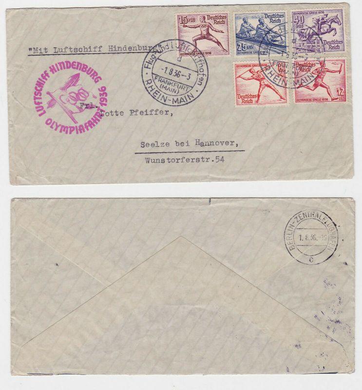Zeppelin Luftschiff Hindenburg Brief Olympiafahrt 1936 (124834)