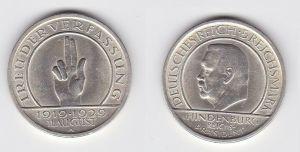 5 Mark Silber Münze Weimarer Republik Verfassung 1929 A vz (131338)
