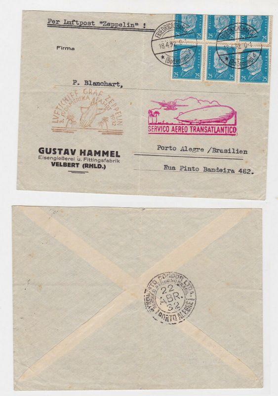 Luftschiff Graf Zeppelin Brief 3.Südamerikafahrt 1932 (123835)
