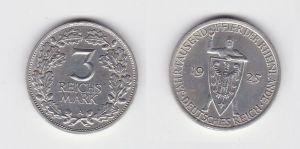 3 Mark Silber Münze Jahrtausendfeier der Rheinlande 1925 A Jäger 321 (131489)
