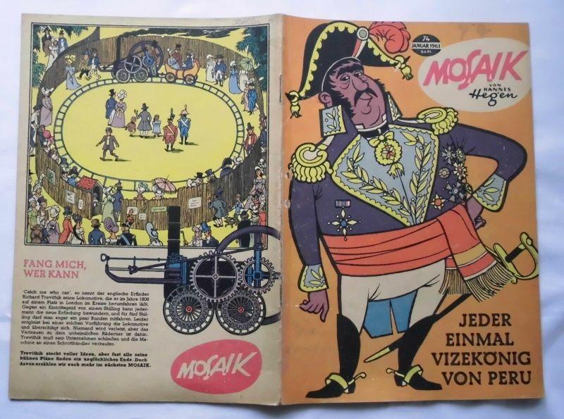 Mosaik von Hannes Hegen Digedag Nummer 74 von 1963 (124100)