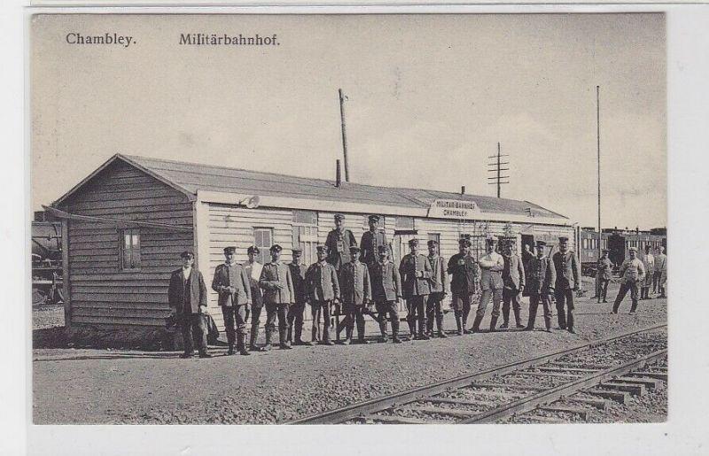 81096 Feldpost Ak Chambley in Frankreich Militärbahnhof 1916