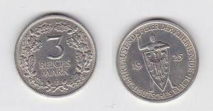 3 Mark Silber Münze Jahrtausendfeier der Rheinlande 1925 E Jäger 321 (131491)
