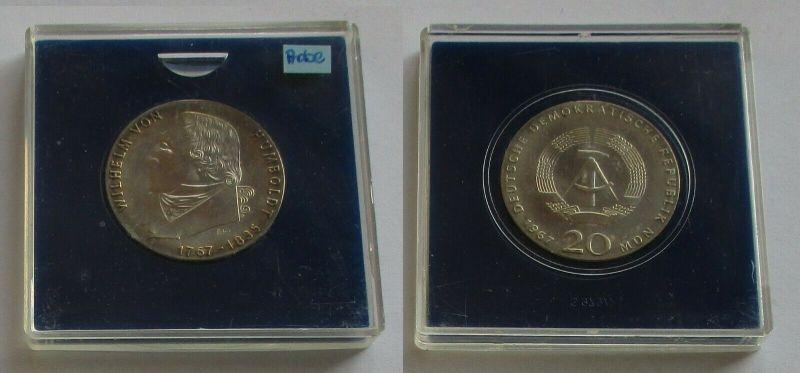 DDR Gedenk Münze 20 Mark Wilhelm von Humboldt 1967 Probe Stempelglanz (131700)