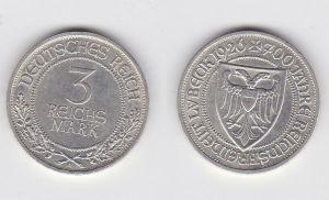 Münze 3 Mark 700 Jahre Reichsfreiheit Lübeck 1926 A vorzüglich+ (131485)