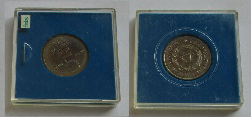 DDR 5 Mark 1969 Material Probe Kupfer Nickel helle Version Kursmünze (131656)