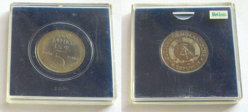 DDR 5 Mark 1969 Material Probe Kupfer Nickel helle Version Kursmünze (131675)
