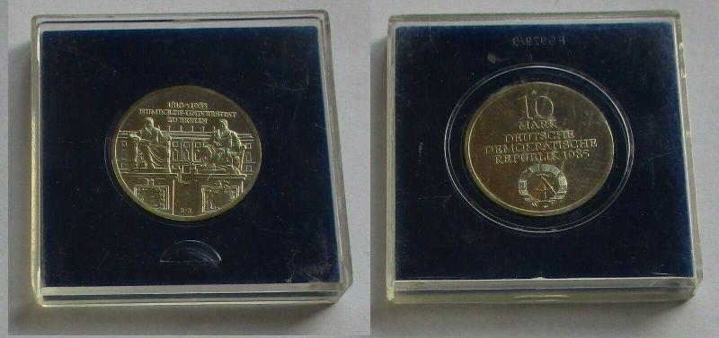DDR Gedenk Münze 10 Mark Humboldt Universität 1985 Silber Stempelglanz (131686)