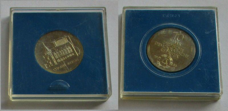 DDR Gedenk Münze 10 Mark Charité Berlin 1986 Silber Stempelglanz (131984)