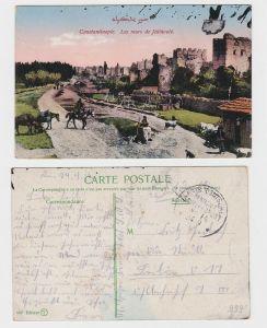 91969 AK Constantinople - Mauern von Jedikoule, Marine Schiffspost No. 14 - 1916