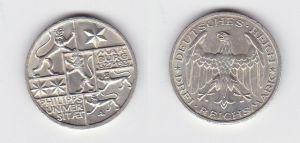 3 Mark Silber Münze Universität Marburg 1927 (131487)