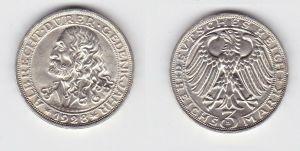 Silber Münze 3 Mark Albrecht Dürer 1928 D Jäger 332 (131341)
