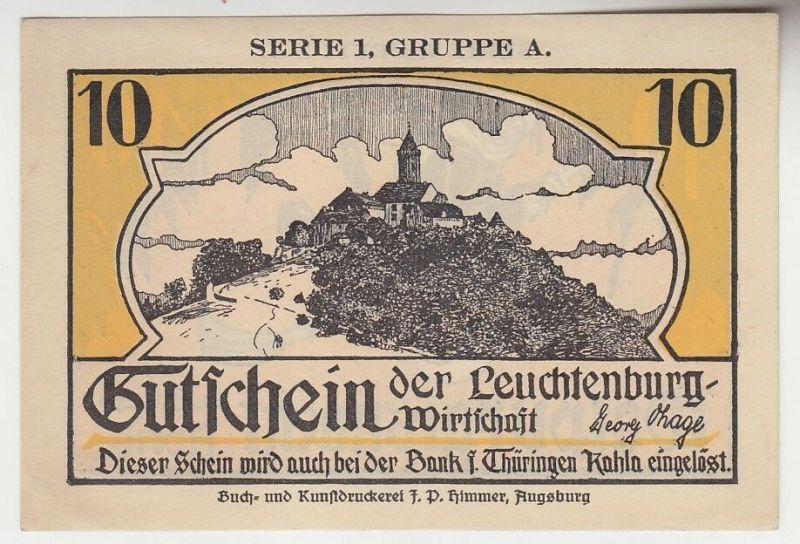 10 Pfennig Gutschein der Leuchtenburg Wirtschaft  (100365)