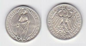 Silbermuenze 3 Mark Gruendungsfeier Naumburg 1928 A (131499)