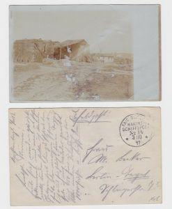 89172 AK Constantinople, Häuser & davor Ruine - Marine Schiffspost No. 14 - 1917