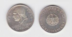 Silbermünze 3 Mark Gotthold Ephraim Lessing 1929 G (131482)