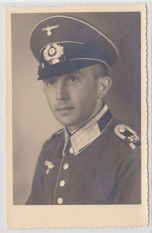 25269 Foto AK Soldat Unteroffizier Infanterie-Regiment 318 Kompanie 12 Wehrmacht