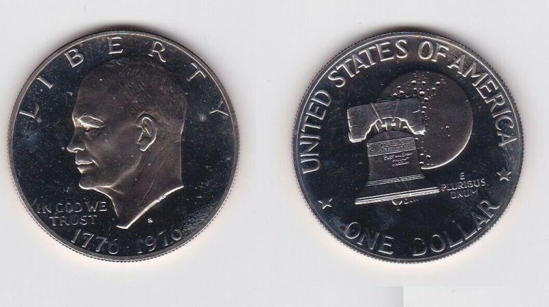 USA UNITED STATES 1976 1 Dollar Silber Stgl. (130882)