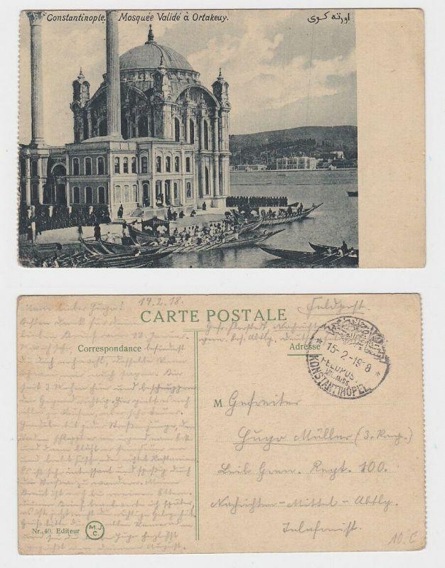 64071 Feldpost AK Constantinople - Moschee in Ortaköy 1918